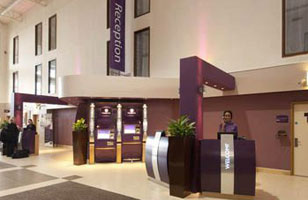 Heathrow Premier Inn reception